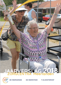 Omslag van het Jaarverslag 2018 Zorgcentra Meerlanden